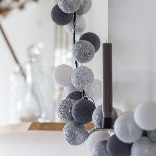 Silver Mix - 50 cottonballs