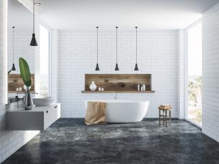 Badkamer met moderne uitstraling