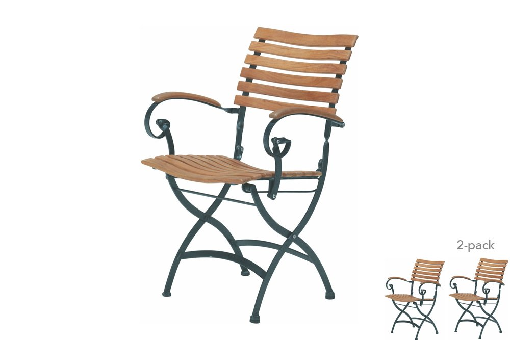 4 Seasons Outdoor Bellini charcoal frame 2x - teak