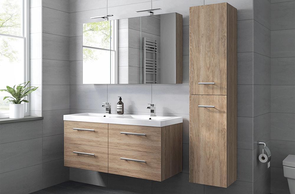 Functionaliteit is ook zeker een belangrijke factor bij het aanschaffen van een badkamermeubel, willen jullie één of twee wastafels?