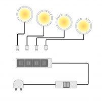 LED-spotjes Across (4-delige set)
