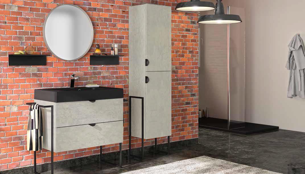 Typische industriële stijl uit New York: zwarte accessoires, brick wall en grote fabriekslampen.