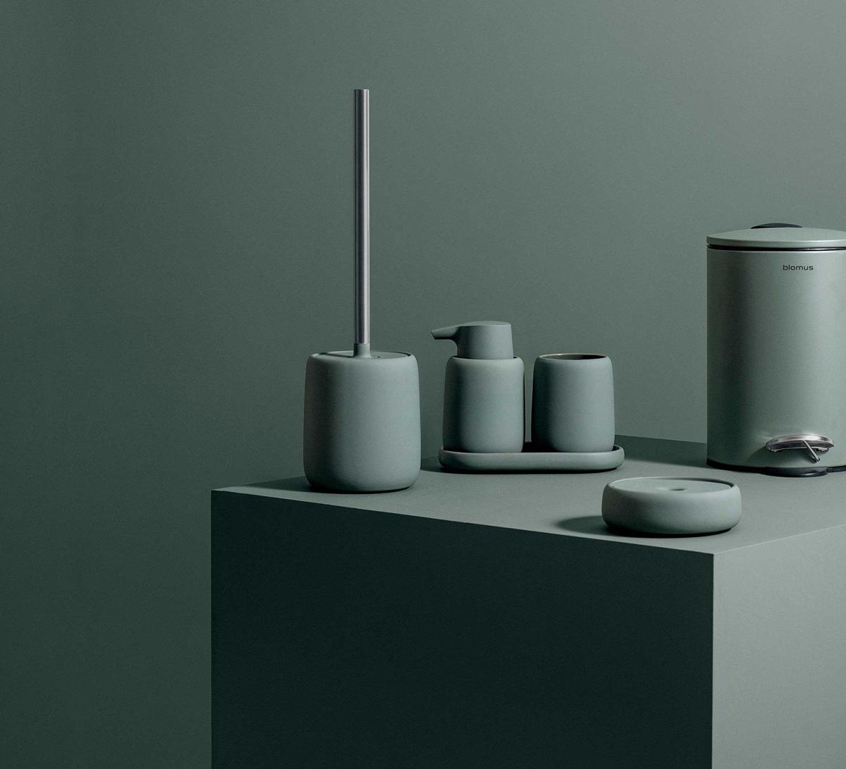 De Sono collectie badkamer- en toiletaccessoires is ook verkrijgbaar in de trendy kleur groen.
