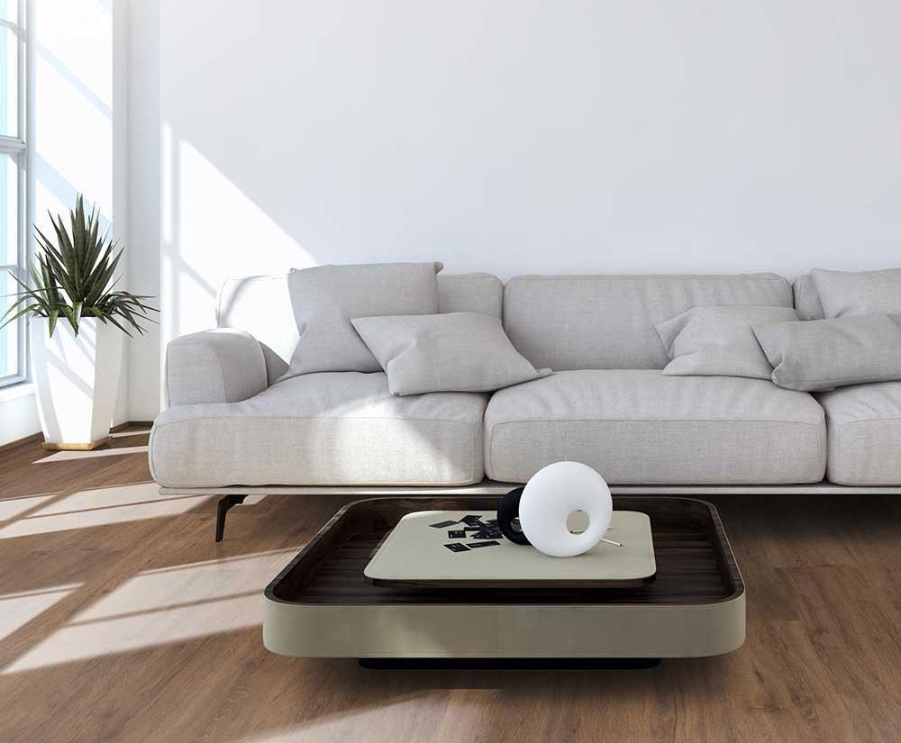 PVC vloer met een strakke en moderne look.