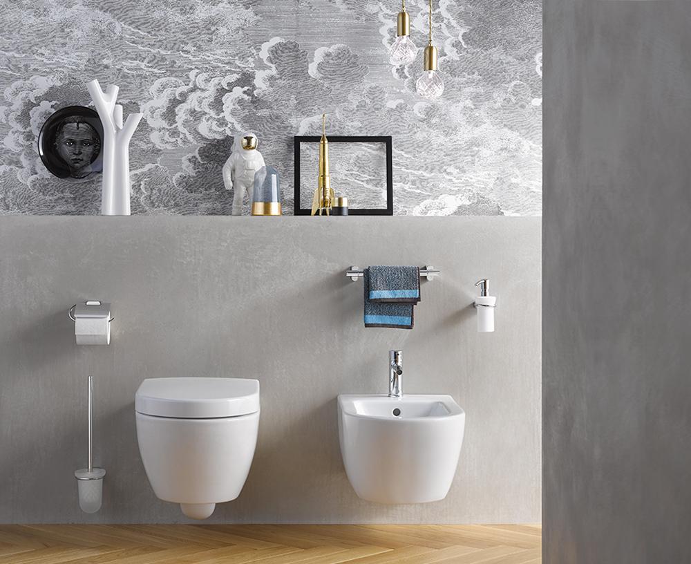 Serie LOGO2: Tijdloze strakke toiletaccessoires van het Emco.