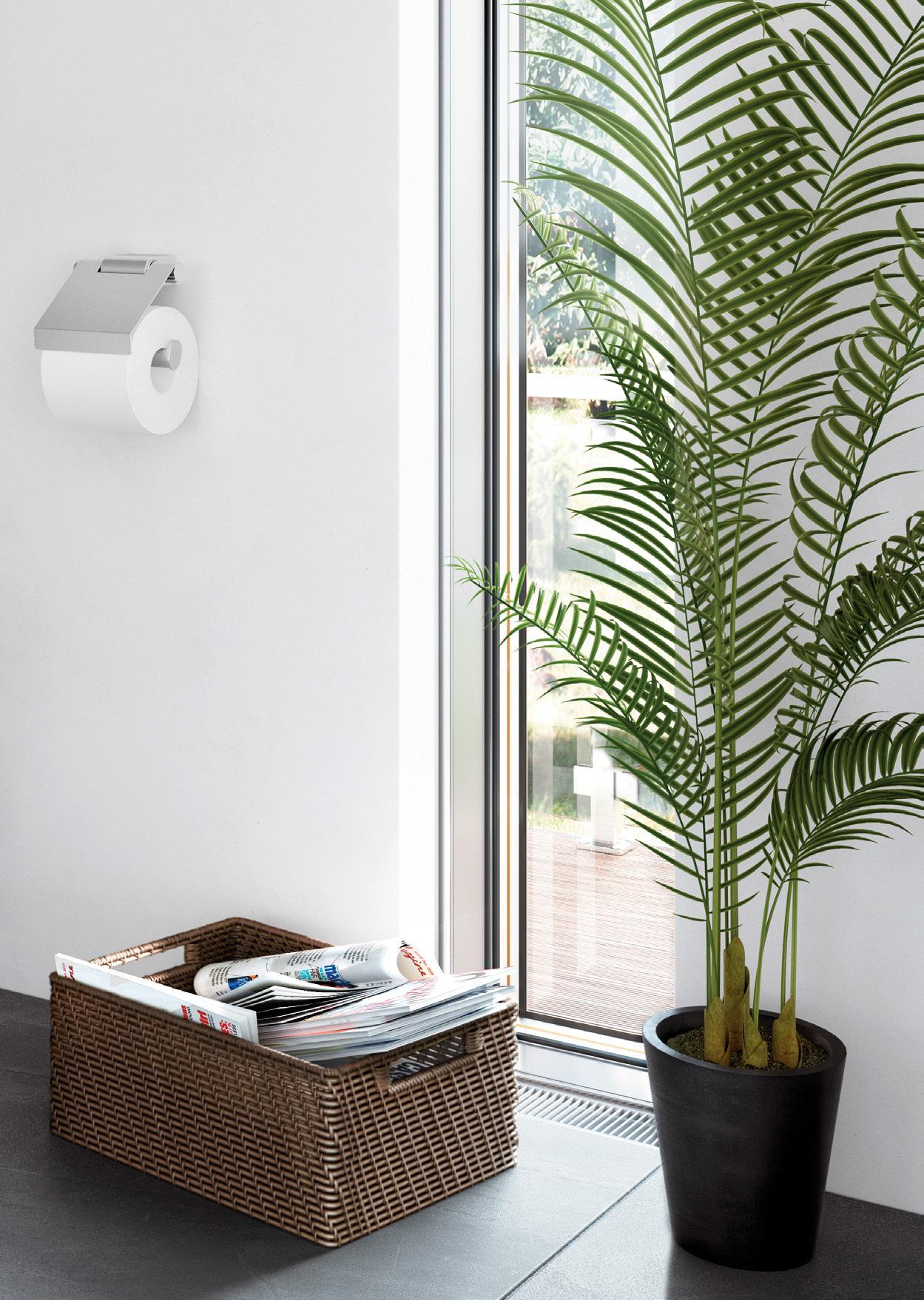Atore collectie van Zack bestaat uit o.a. een design wc-rolhouder.