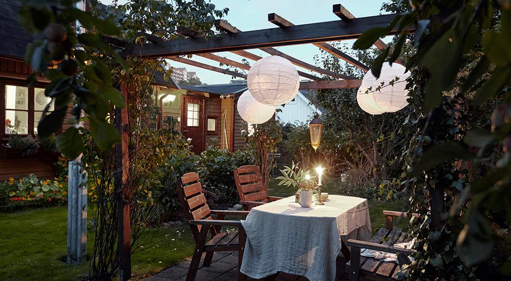 Mooie verlichting zorgt ervoor dat jouw tuin nog gezelliger wordt!
