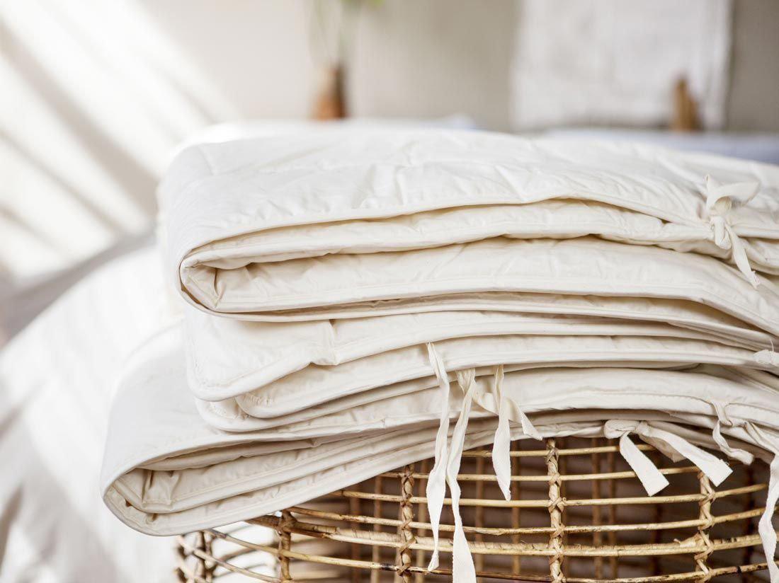 Dekbed gemaakt van natuurlijke tencel vezels.
