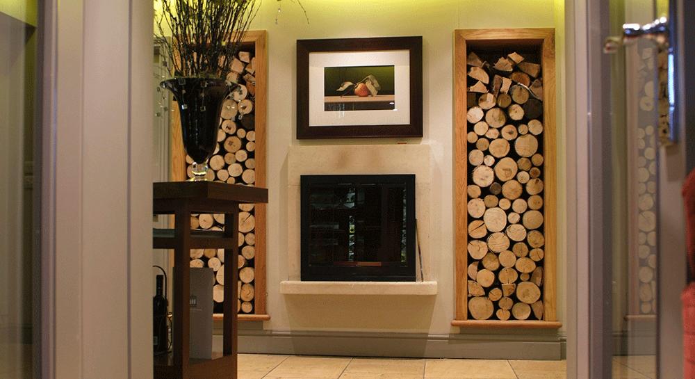 Dit is een praktische én stijlvolle manier van hout opbergen!