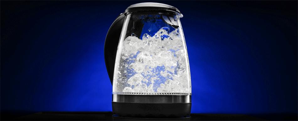 Gaaf: een waterkoker met ledverlichting!