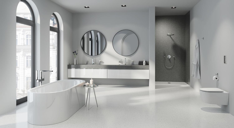 Nog meer stijl in de badkamer met de uitbreiding van GROHE Colors Collection gekleurde badkamerkranen