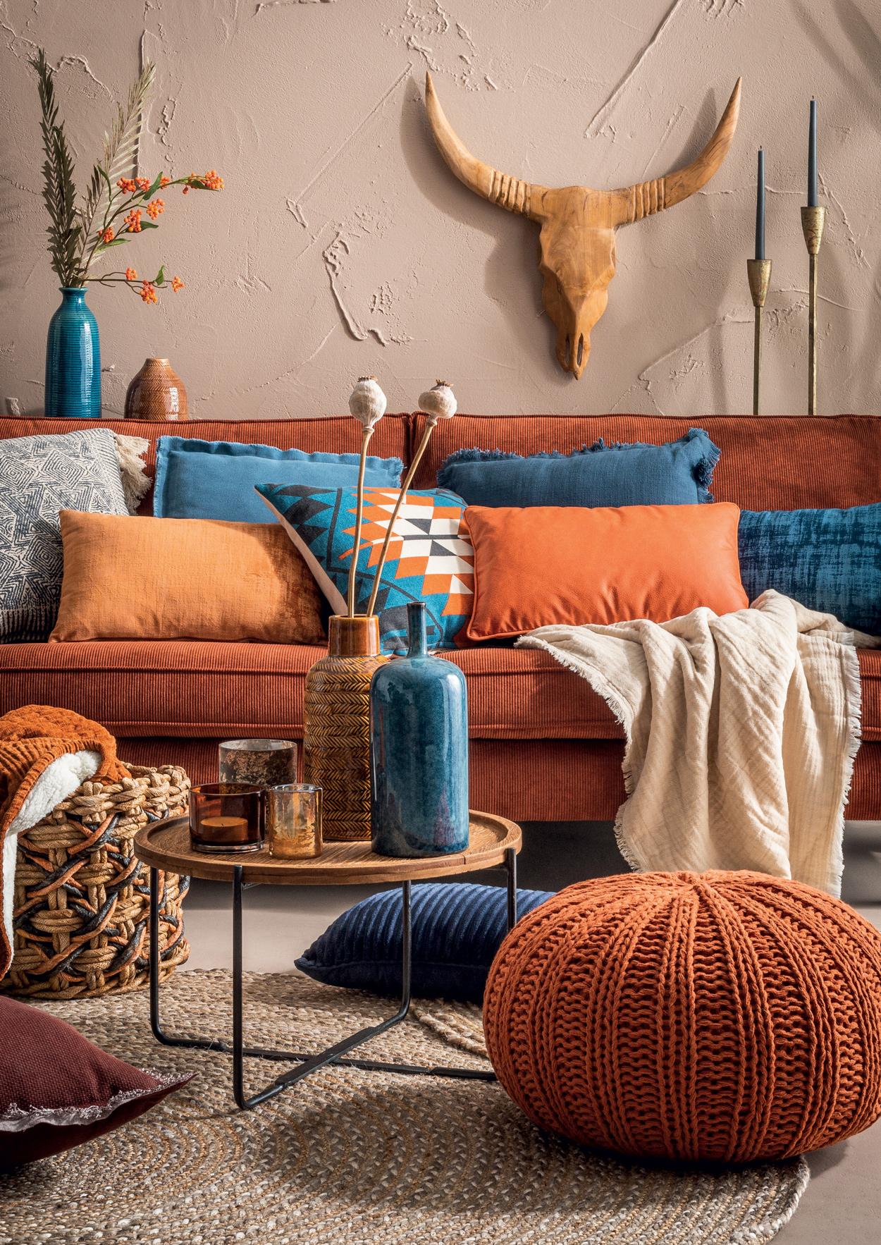 Terracotta is een trendkleur waarmee je helemaal los kan.
