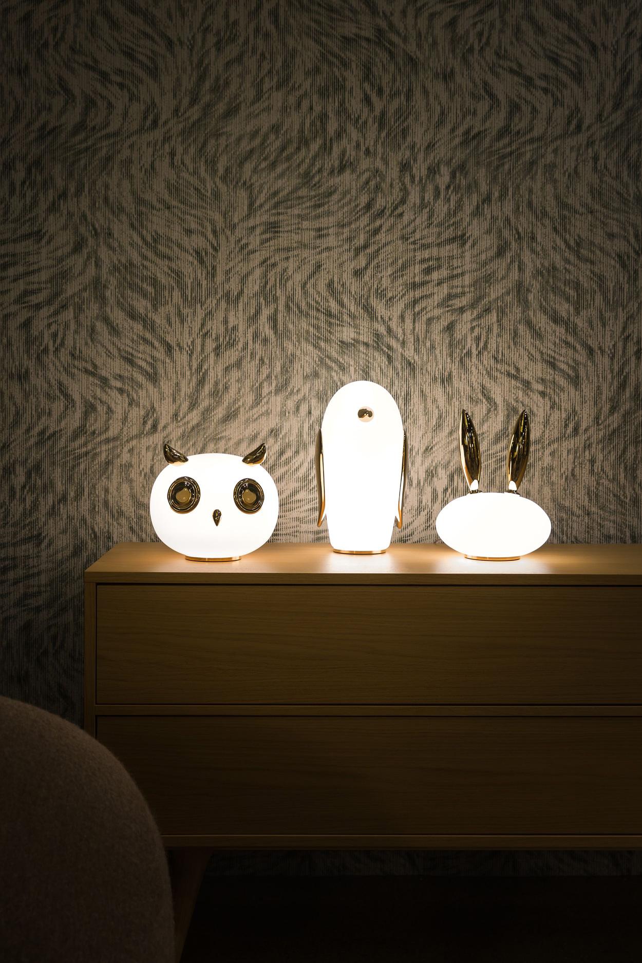 Chique dierenlampen, ontworpen door Marcel Wanders voor Moooi.