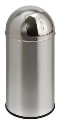 Pushcan 40 L Mat Rvs-Woonaccessoires