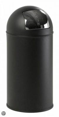 Pushcan 40 L Mat Zwart-Woonaccessoires