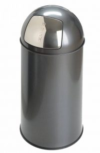 Pushcan 40 L grey-Woonaccessoires