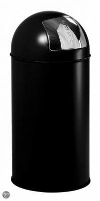 Pushcan 40 L zwart-Woonaccessoires