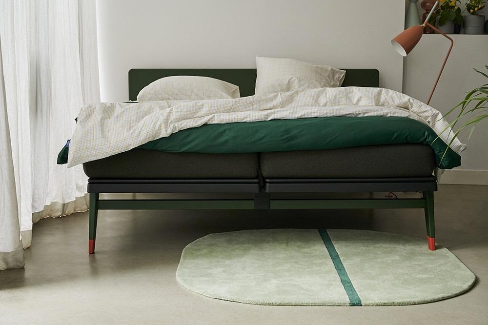 Ga voor een rustgevende groene kleur in je kamer met de Auping Original in Forest Green.