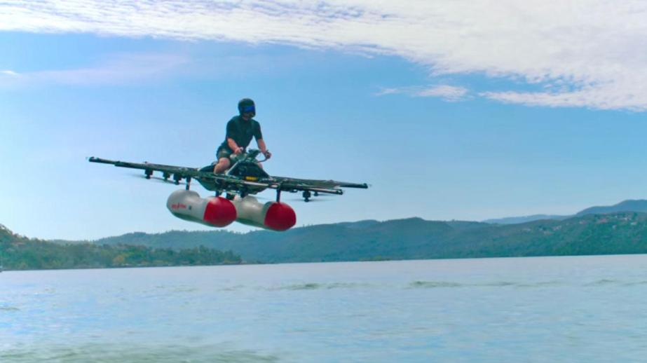 flying motorbike