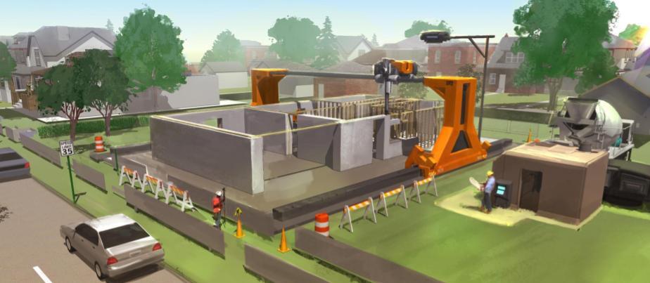 impresión 3d en construcción
