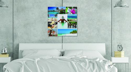 תמונה של קולאז בחדר שינה
