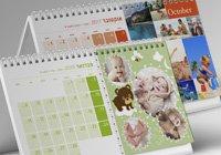מבחר עיצובים של לוחות שנה