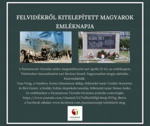 Felvidékről kitelepített magyarok emléknapja – online megemlékezés