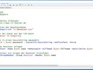 Mehrer Benutzer aus einer CSV Datei mit der Powershell anlegen