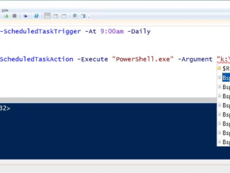 Mit der Windows PowerShell eine Aufgabe erzeugen