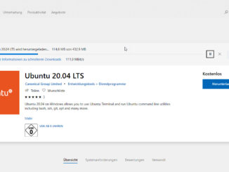 Unter Windows 10 Linux Ubuntu 20.04 installieren
