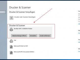 Unter Windows 10 einen Netzwerkdrucker automatisch hinzufügen