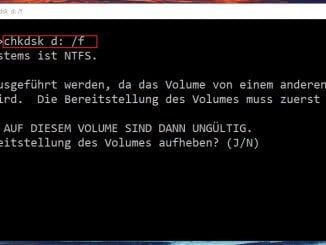 Festplatte unter Windows mit chkdsk auf Fehler Überprüfen