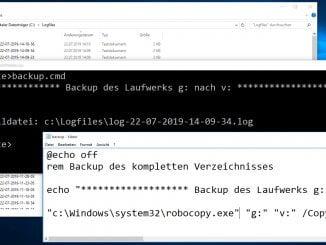 Backupscript unter Windows mit Robocopy