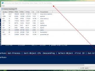 Mit der Windows PowerShell die Top 10 Processe mit dem höchsten CPU Verbrauch anzeigen lassen!