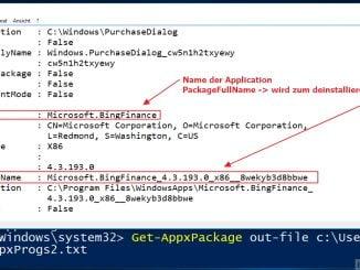 Mit der Windows PowerShell vorinstallierte Programme entfernen