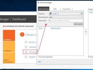 Weitere zu verwaltende Server dem Server Manager hinzufügen