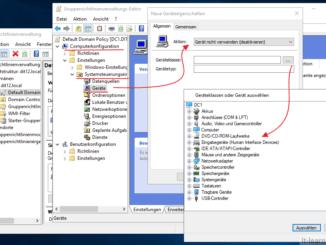 Über die Gruppenrichtlinien am Windows Server das DVD Laufwerk oder den USB Port sperren