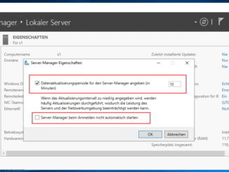 Windows Server Manager beim start automatisch deaktivieren