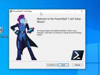 Installation der Windows PowerShell 7