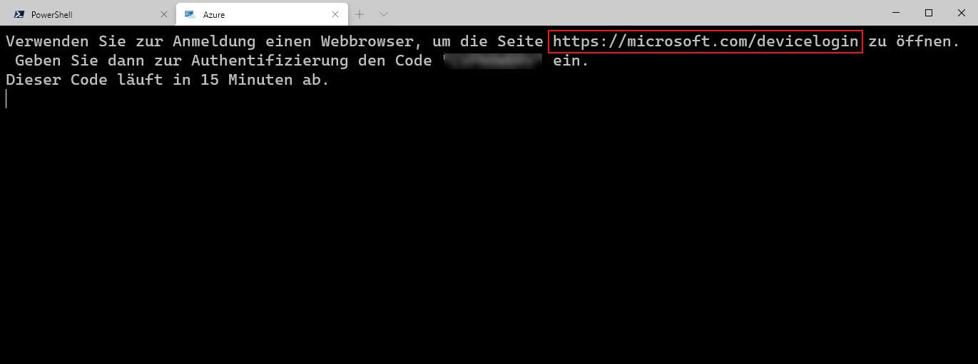 Mit Dem Windows Terminal Eine Azure Cloud Shell Einrichten Browser öffnen