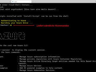 Mit Dem Windows Terminal Eine Azure Cloud Shell Einrichten Verbindung Zulassen Hilfe Aufrufen