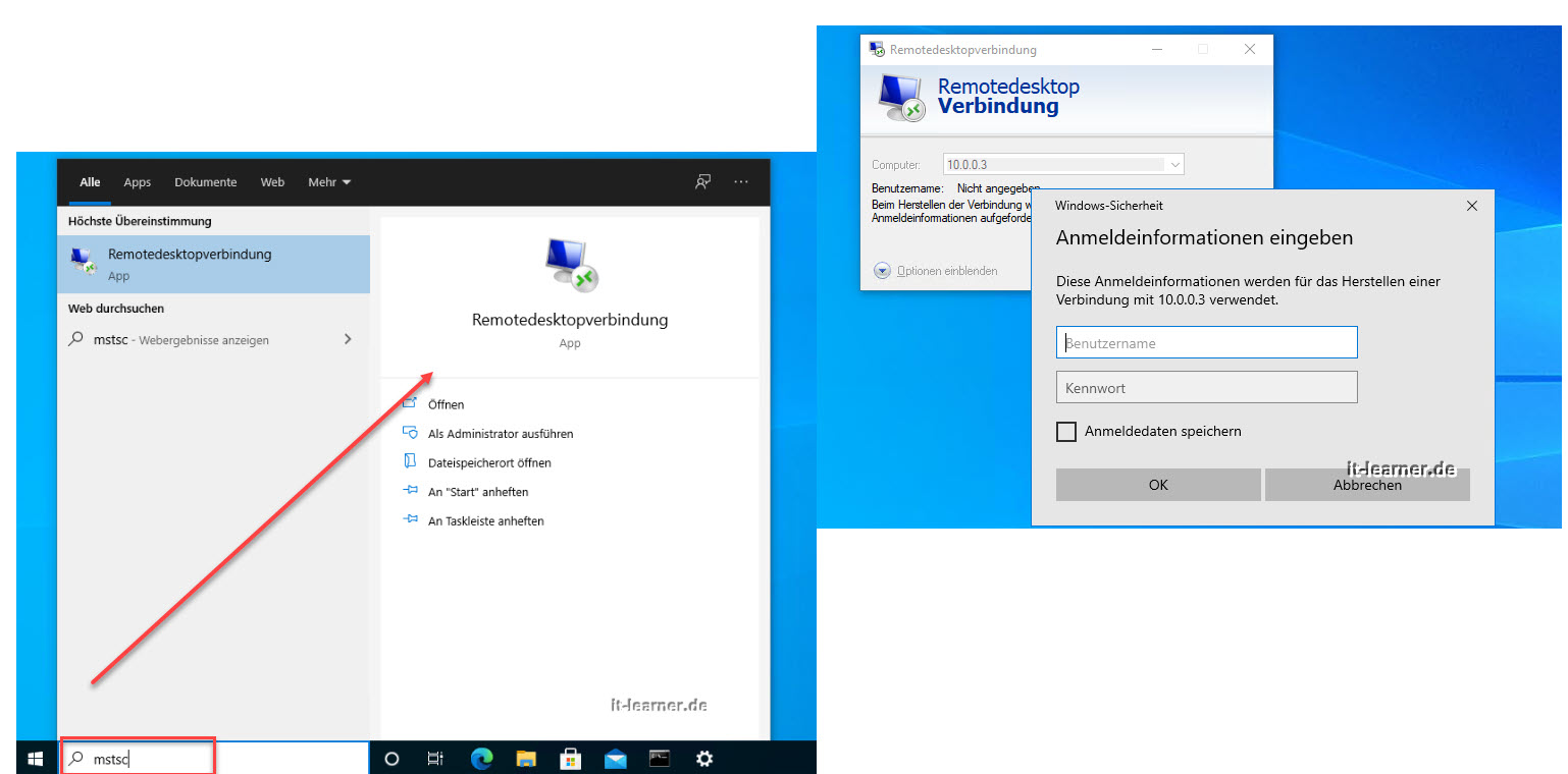 Windows 10 Per Remote Verbinden