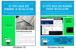 Liste meiner veröffentlichten Ebooks zu Windows 10 und Windows Server