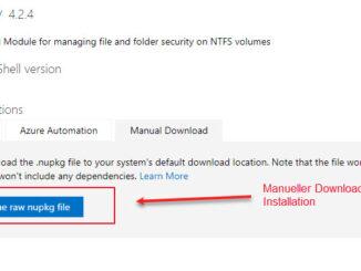 Ein Neues Windows PowerShell Modul Downloaden Und Manuell Installieren
