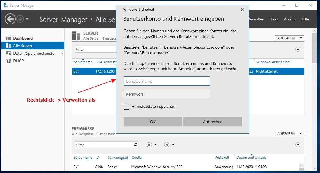 Einen Neuen Windows Server Unter Windows 10 Dem Server Manager Hinzufügen Und Berechtigungen Setzen