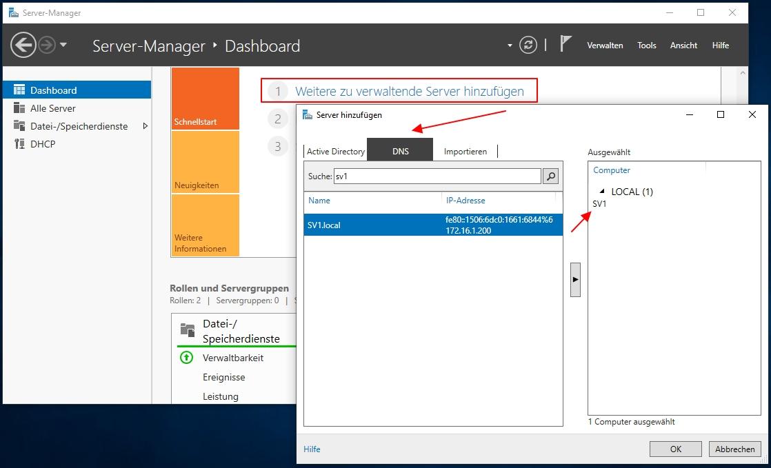 Einen Neuen Windows Server Unter Windows 10 Dem Server Manager Hinzufügen