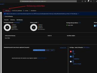 Im Microsoft Azure Porta Neue Sicherung Einrichten