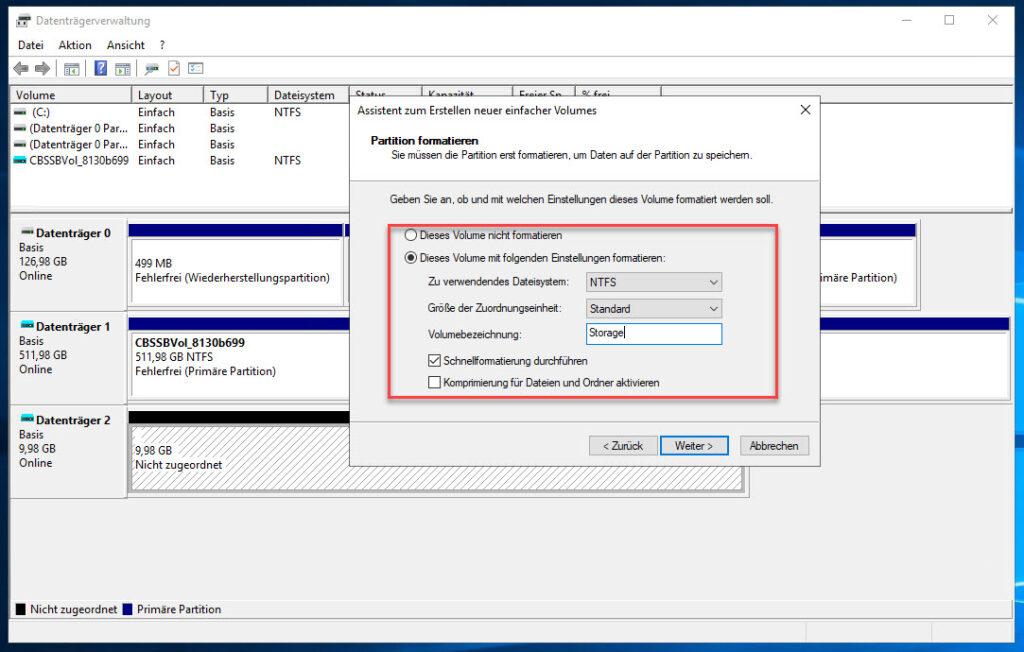 Virtuelle Festplatte Im Windows Server Vergabe Des Laufwerksbuchstaben