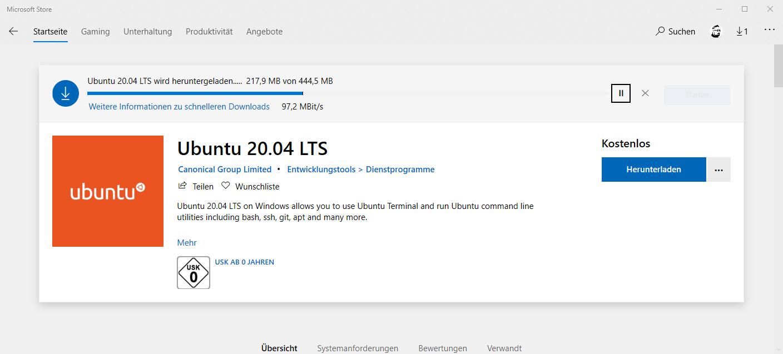Installation von WSL2 und einer Linux Distribution - Ubuntu 20.04 direkt unter Windows 10