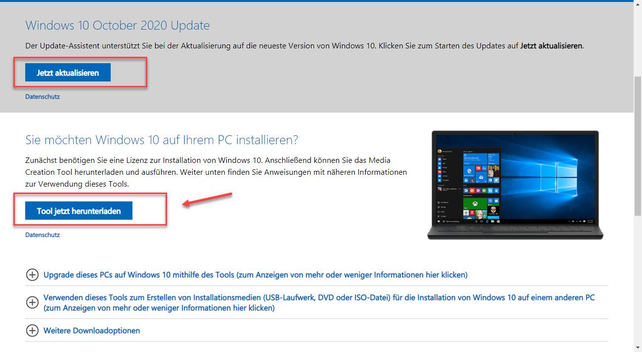 Windows Media Creation Tool Downloaden Und Installieren